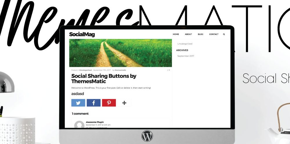 Social Sharing Buttons WordPress Plugin - ThemesMatic