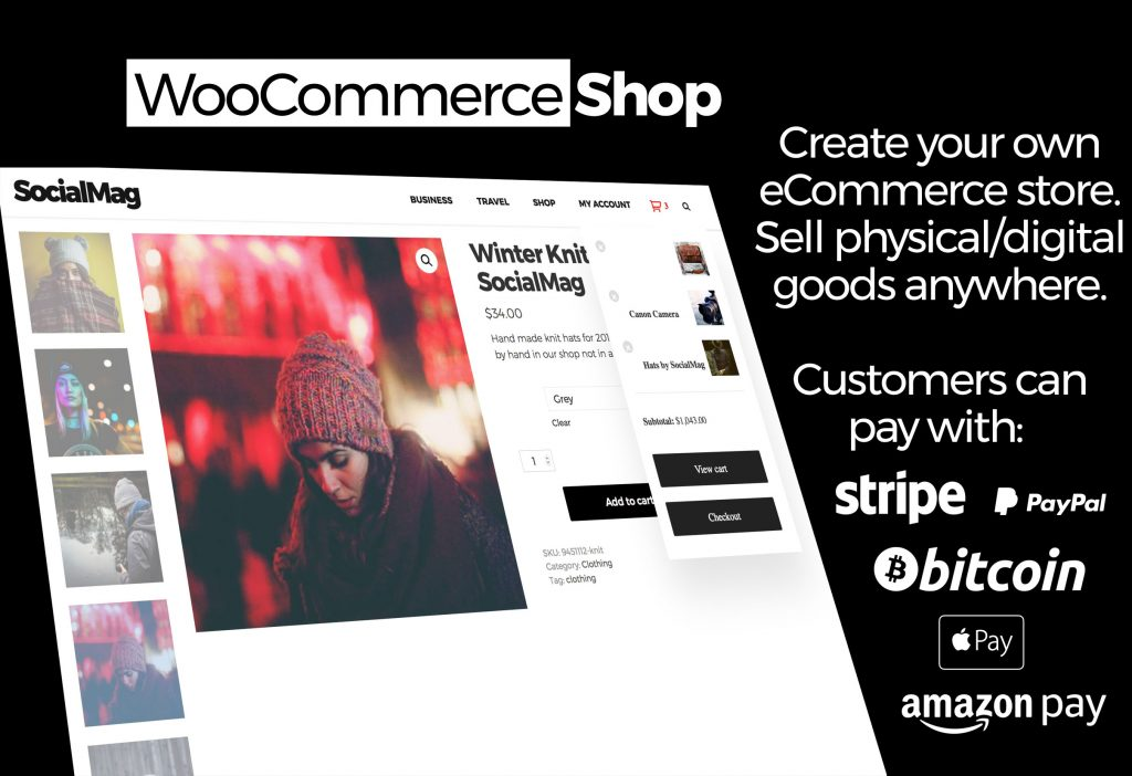 socialmag woocommerce shop